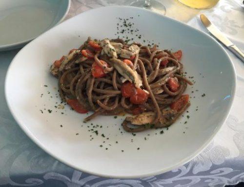 Pasta con Alici e Liquirizia